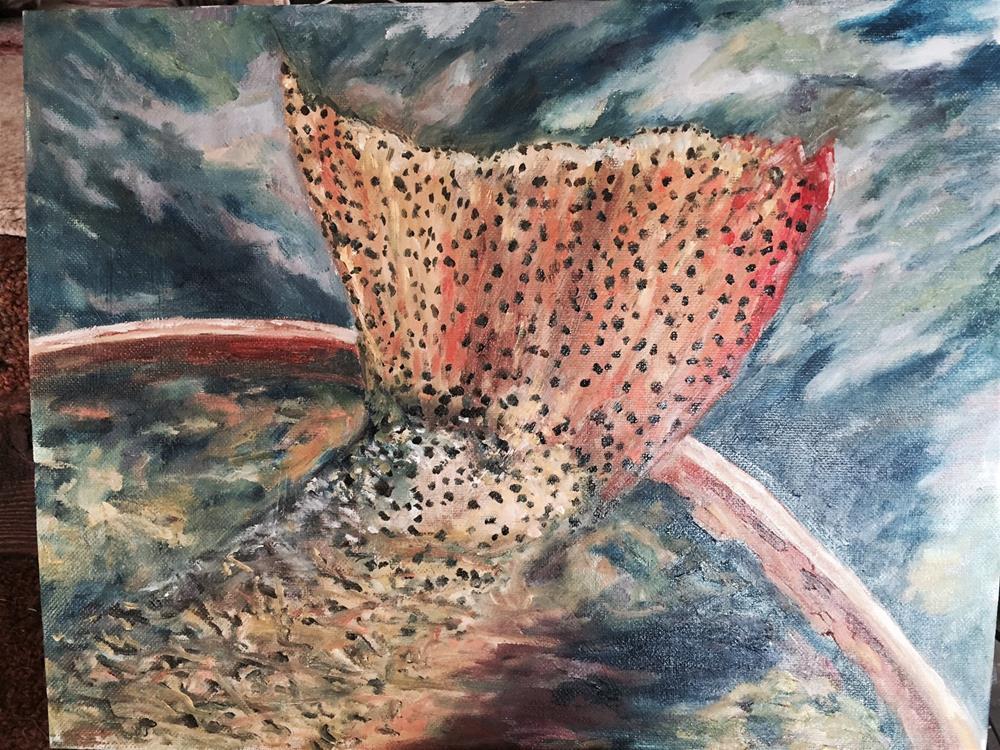 """""""Caught"""" original fine art by Lucy Hammett"""