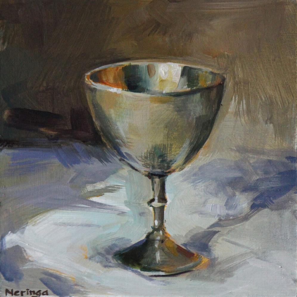 """Silver Chalice"" original fine art by Neringa Maxwell"