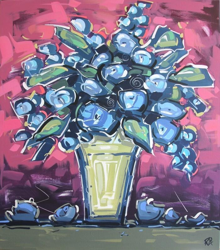"""Flower Exploration 14"" original fine art by Roger Akesson"
