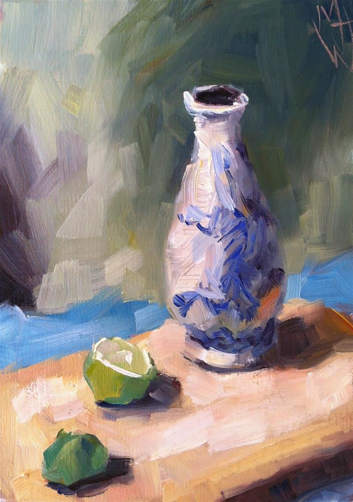 """""""Vase and Lime"""" original fine art by Michael Williamson"""