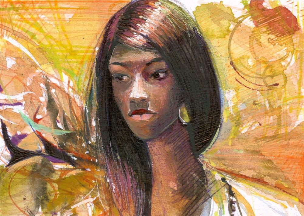 """The Shop Mannequin (The Girl Behind the Window)"" original fine art by Adebanji Alade"