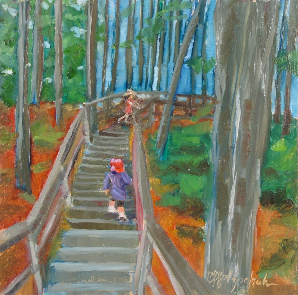 """""""Going Up"""" original fine art by Christine Holzschuh"""
