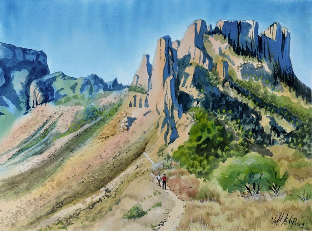 """Big Bend Trail"" original fine art by Jeff Atnip"