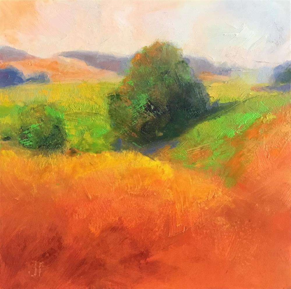 """Vivid Fields"" original fine art by Jean Fitzgerald"