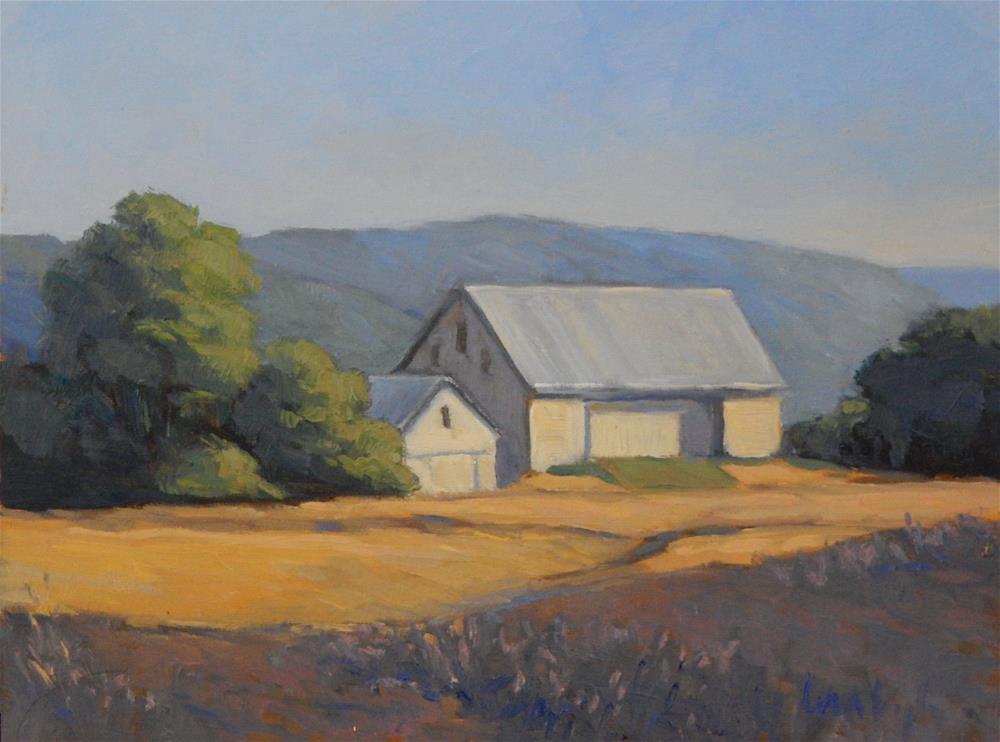 """Evening at the Farm"" original fine art by Lisa Kyle"