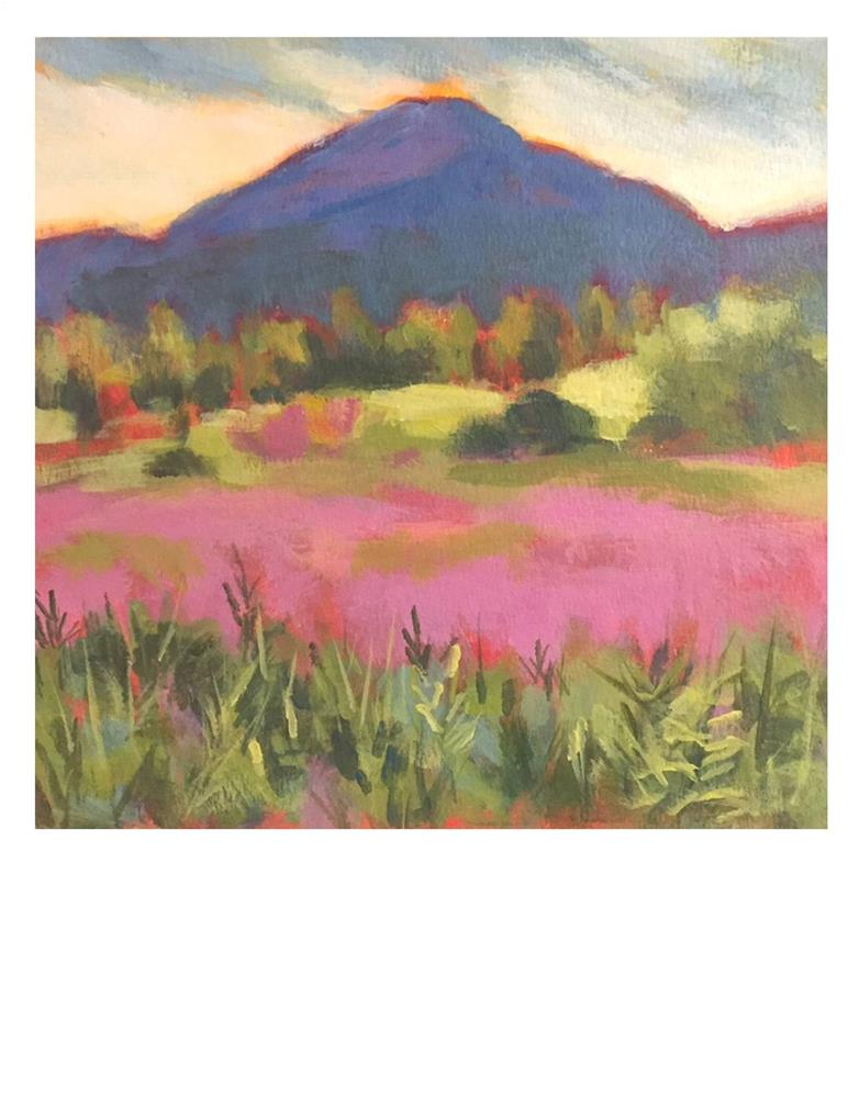 """Burke Mountain"" original fine art by Suzanne Woodward"