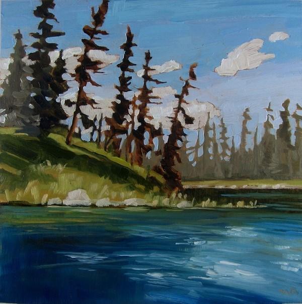 """Island Edge, Heart Lakes"" original fine art by Nicki Ault"
