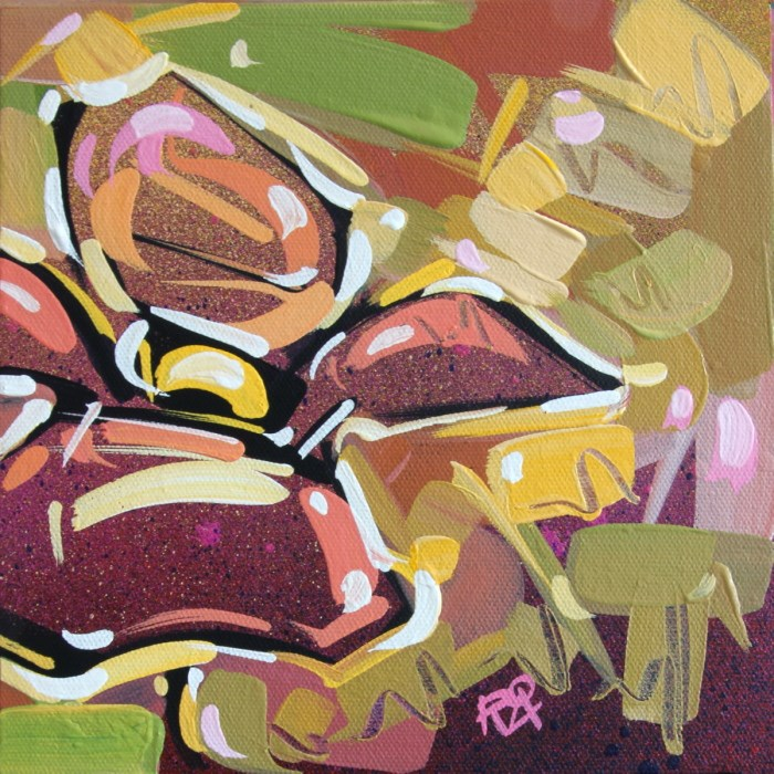"""Flower Abstraction 141"" original fine art by Roger Akesson"