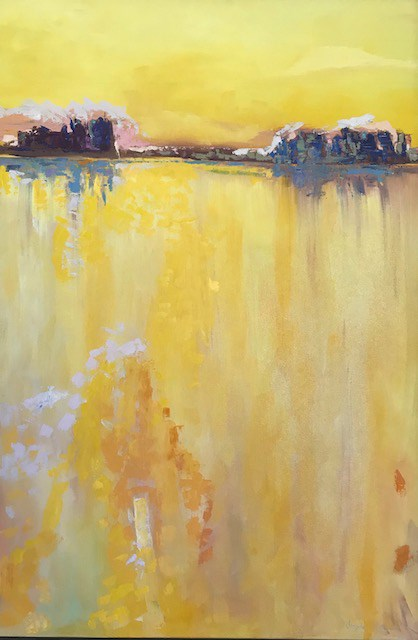 """Sunshine Lake"" original fine art by Angela Hansen"