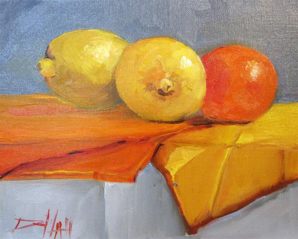 """""""Citrus Still Life"""" original fine art by Delilah Smith"""