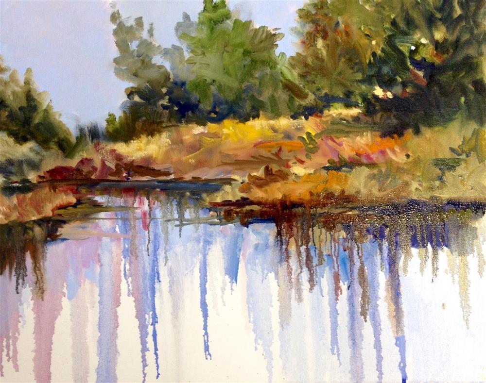 """""""Marsh Melt"""" original fine art by Cathy Boyd"""