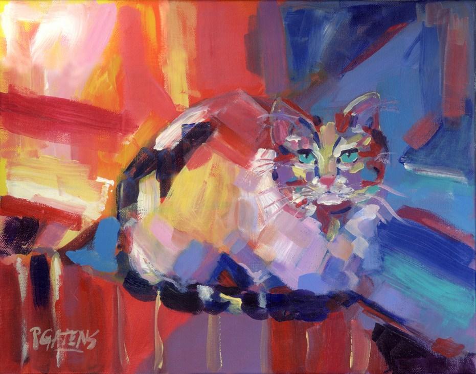 """Calico Abstract"" original fine art by Pamela Gatens"