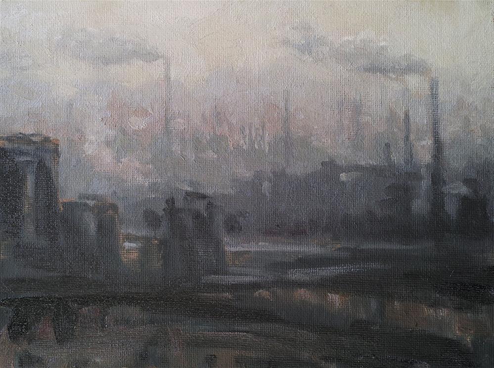 """Industrial"" original fine art by Yuehua He"