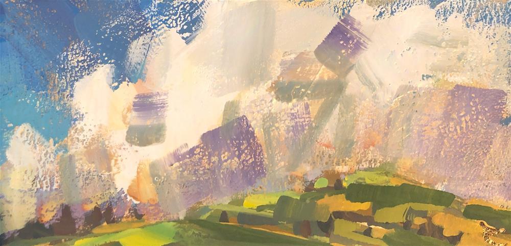 """Cumulus"" original fine art by Cathleen Rehfeld"