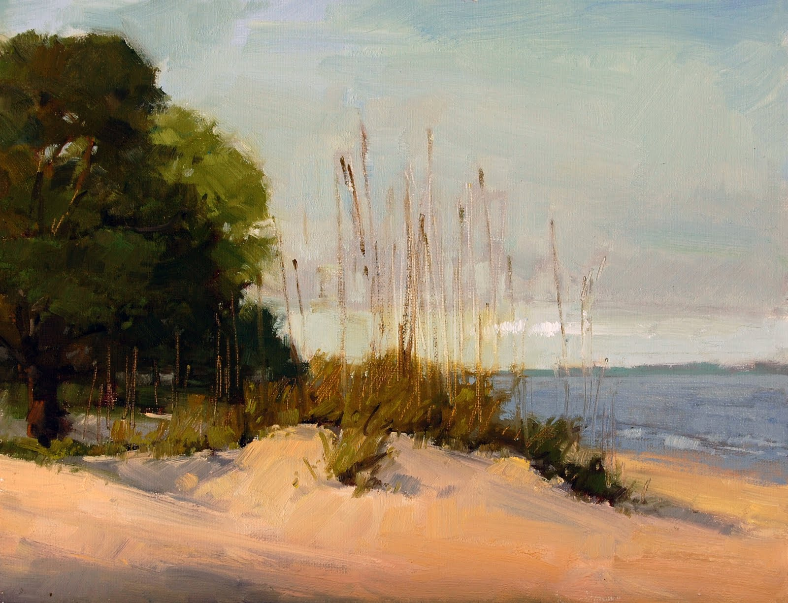 """New Gallery and a Summer Show"" original fine art by Laurel Daniel"