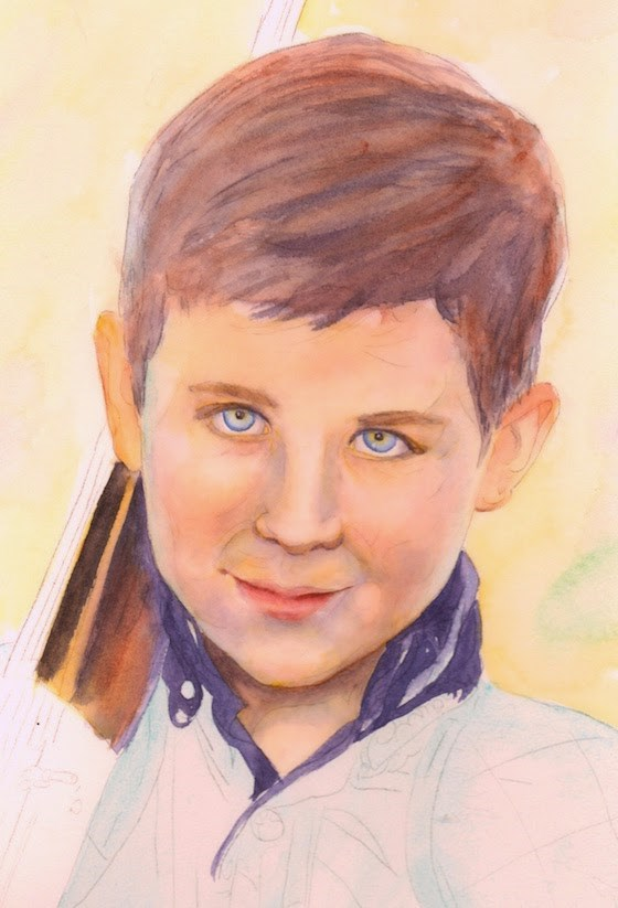 """Unfinished, 9x12 Watercolor Portrait"" original fine art by Carmen Beecher"