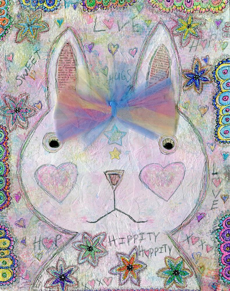 """""""Sweet Bunny"""" original fine art by Sonja Sandell"""
