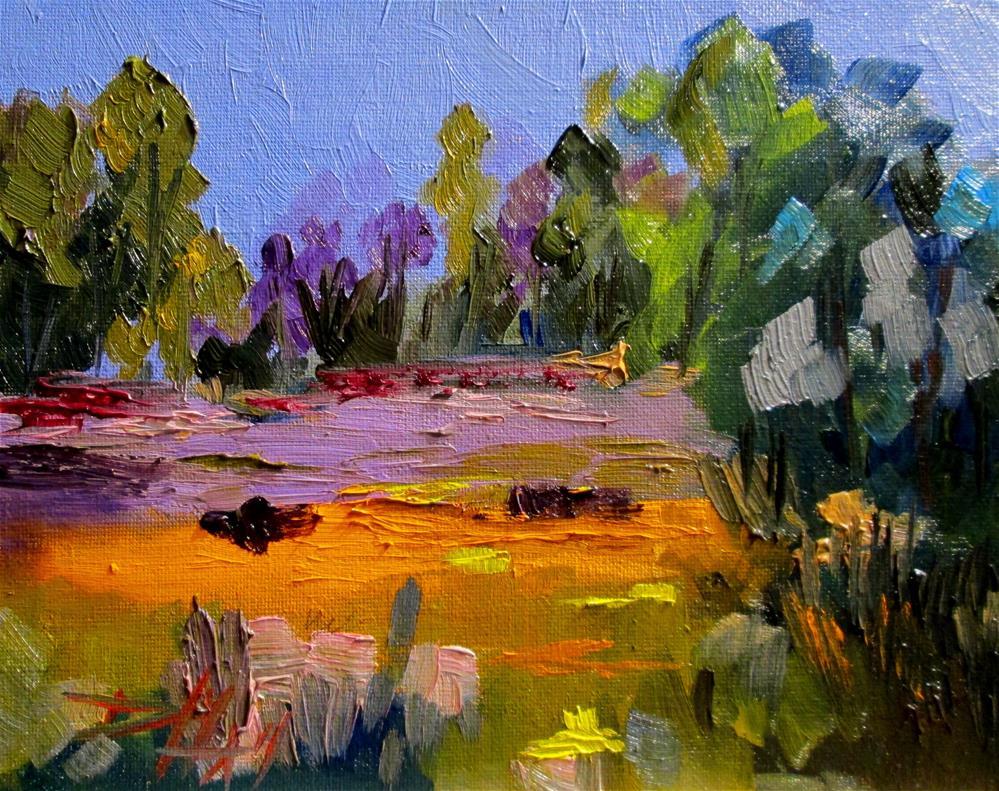 """lavender Fields"" original fine art by Delilah Smith"