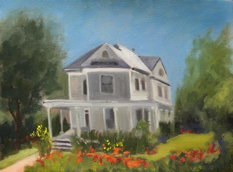 """Pine Street Poppies"" original fine art by Jane Frederick"