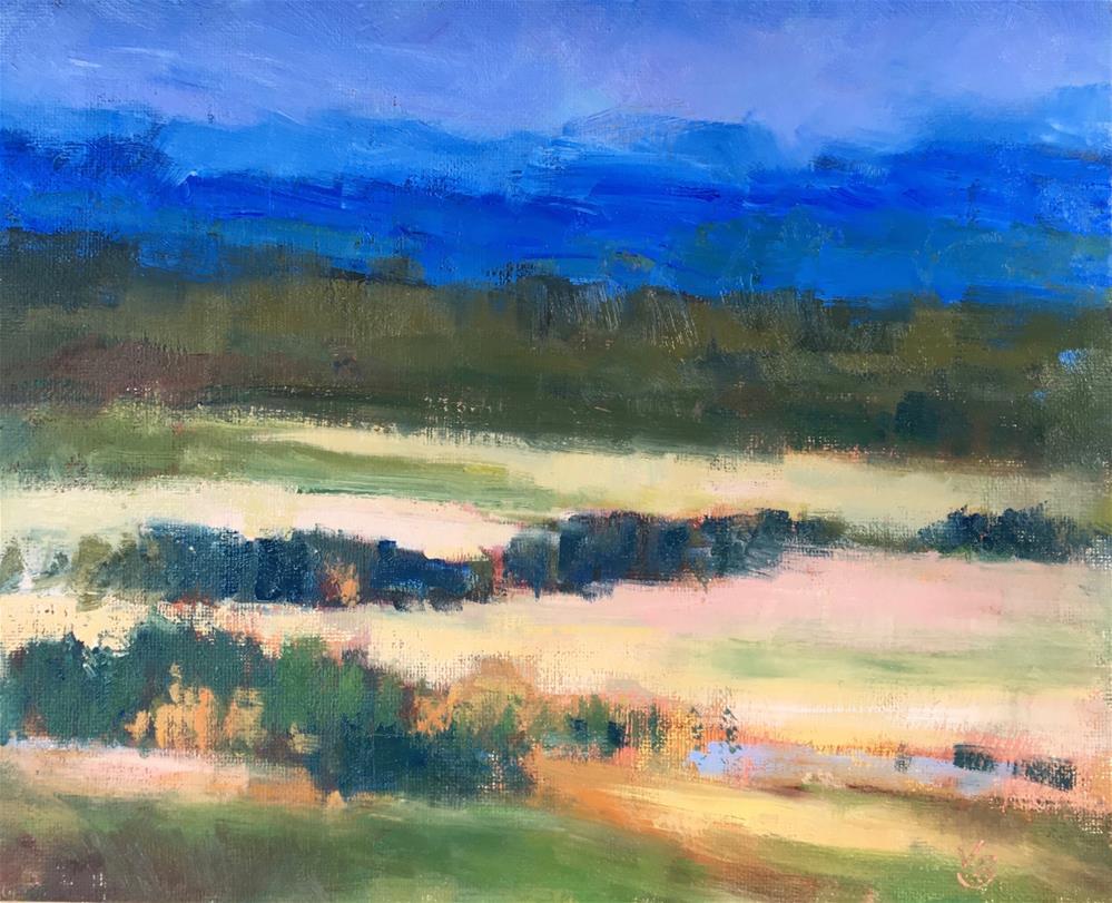 """View from Wild Iris Ridge"" original fine art by Victoria  Biedron"