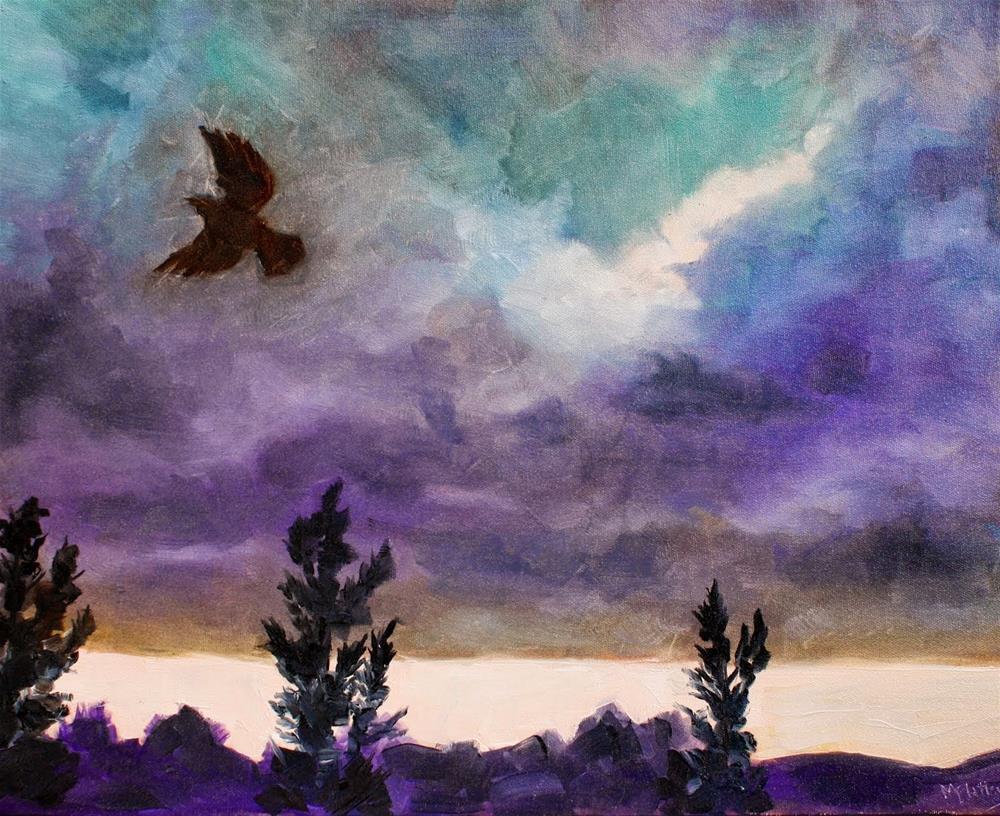 """Blackbird"" original fine art by Maggie Flatley"