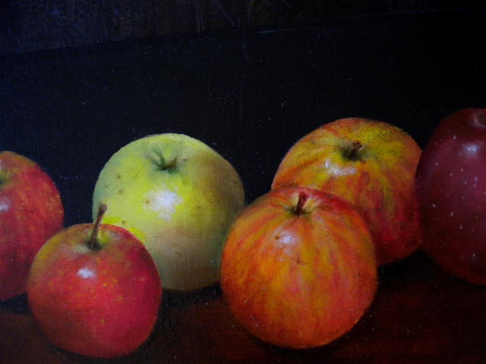 """Apple Study"" original fine art by Hilarie Johnson"