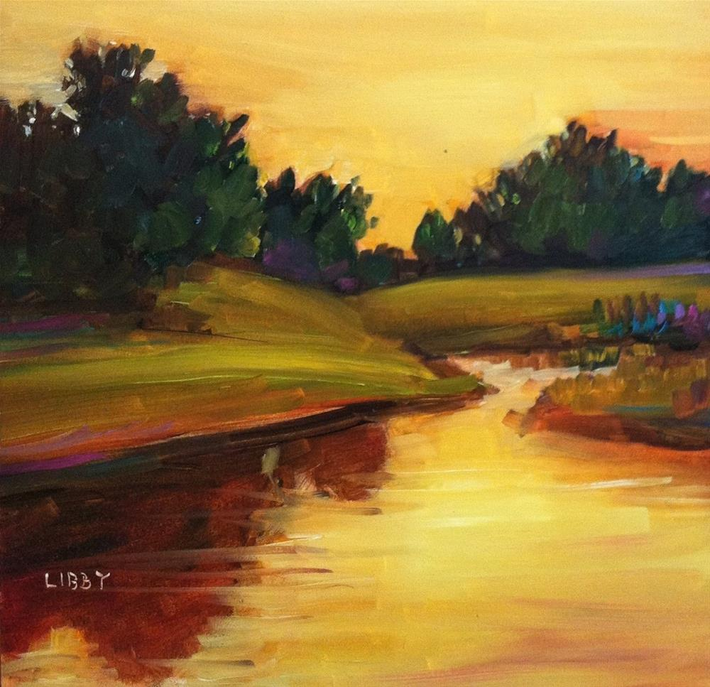 """Sunrise"" original fine art by Libby Anderson"