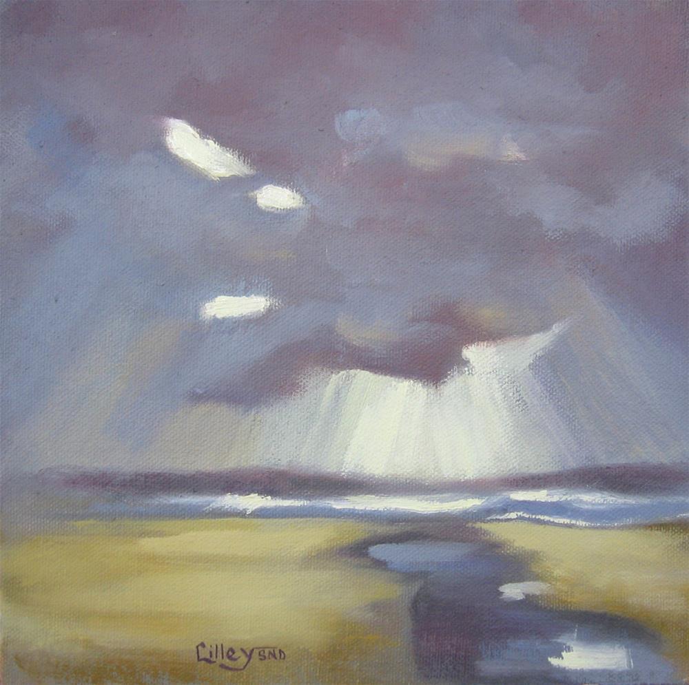 """Floodlights"" original fine art by Maresa Lilley"
