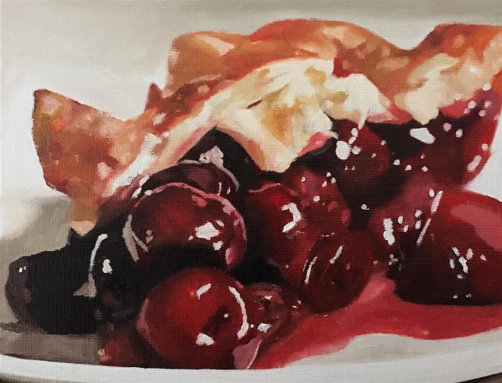 """Cherry Pie"" original fine art by John Cameron"