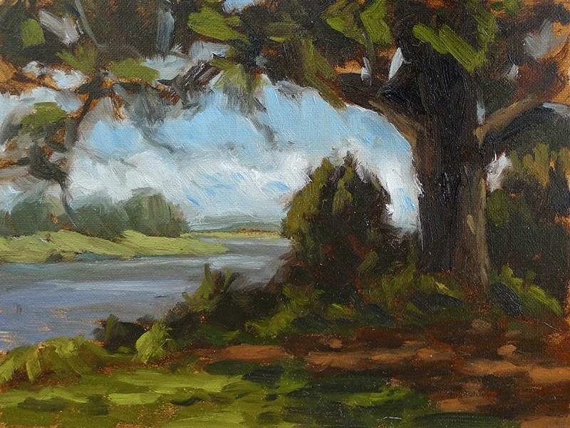 """No. 233 - St. Simons Marsh"" original fine art by Adam Houston"