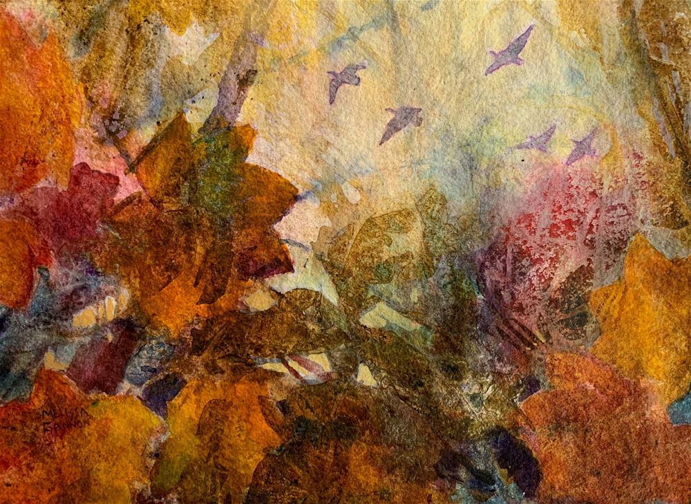 """Flying Home"" original fine art by Melissa Gannon"