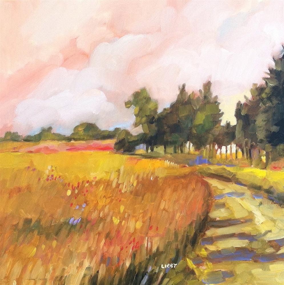 """August Haze"" original fine art by Libby Anderson"