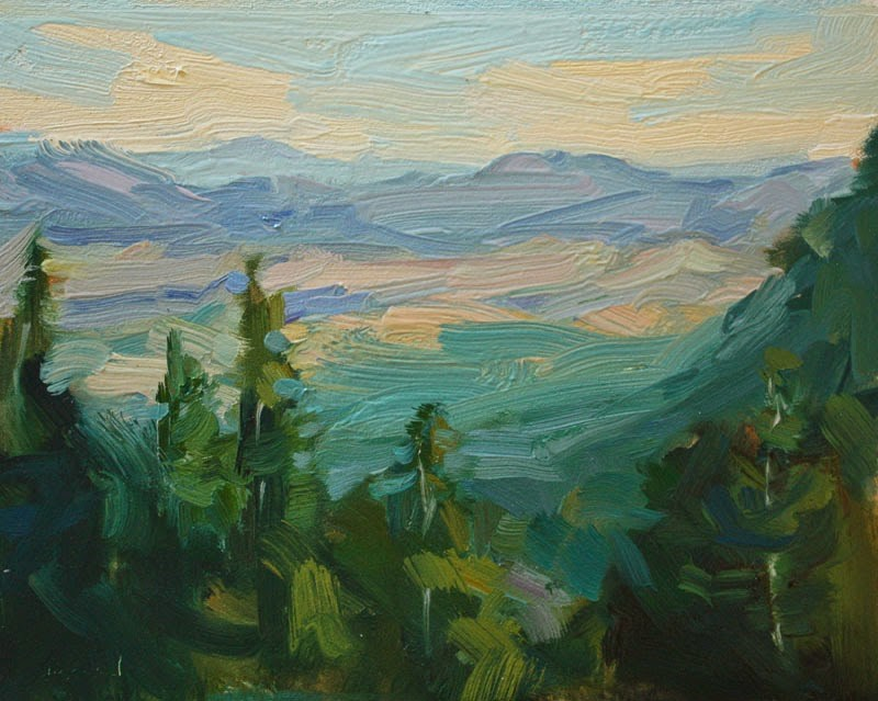 """""""Above the Turquoise Trail - SOLD"""" original fine art by Kathryn Townsend"""