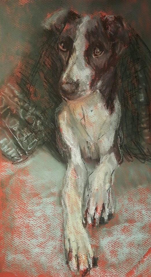 """Cozy"" original fine art by Rentia Coetzee"