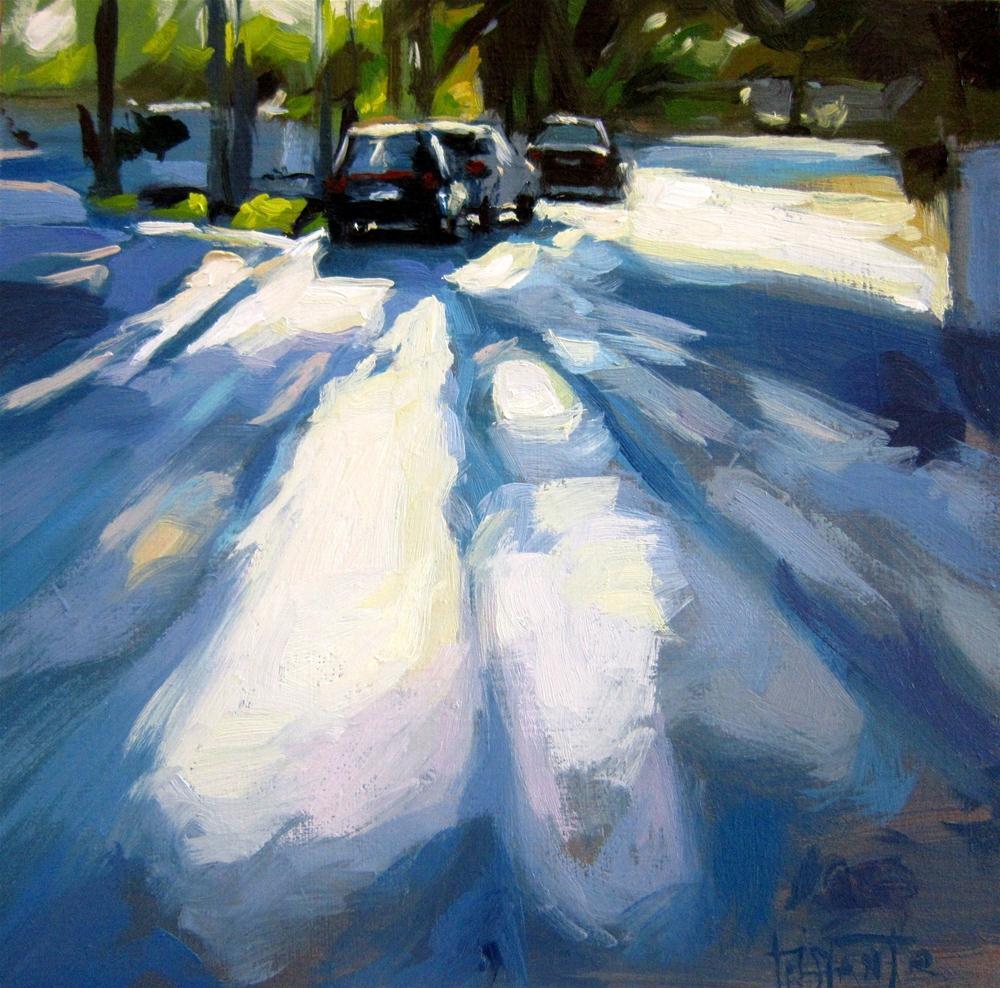 """Shadows of the trees"" original fine art by Víctor Tristante"