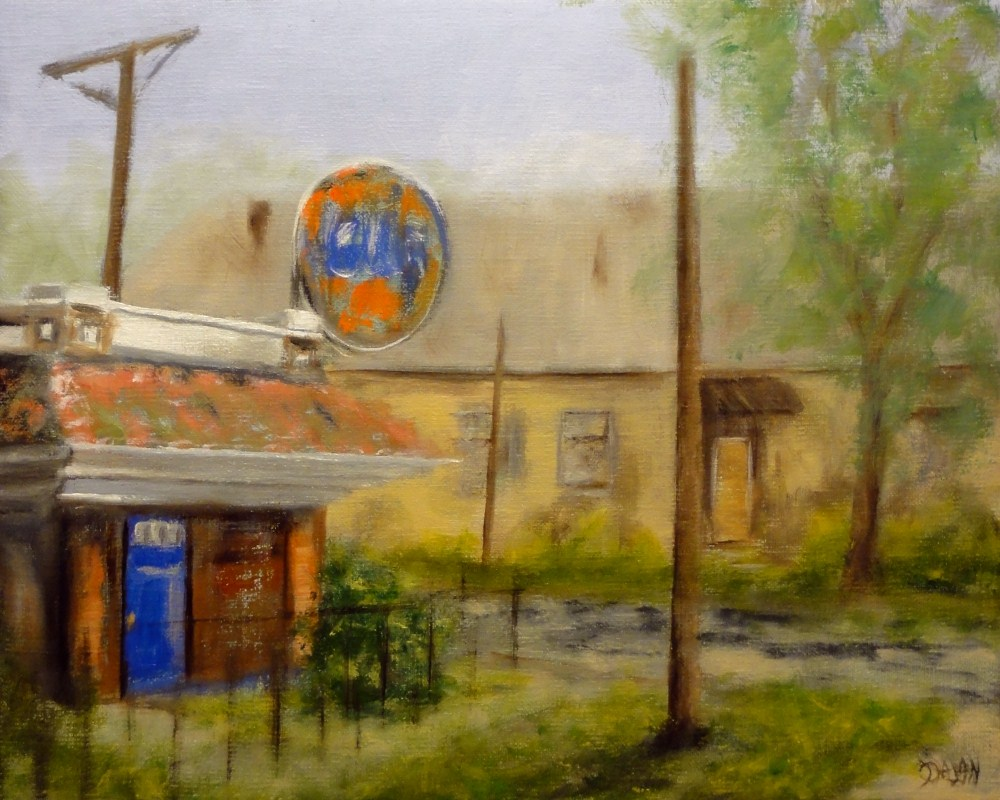 """Gulf Station Abandoned In Old Algiers Louisiana"" original fine art by Dalan Wells"
