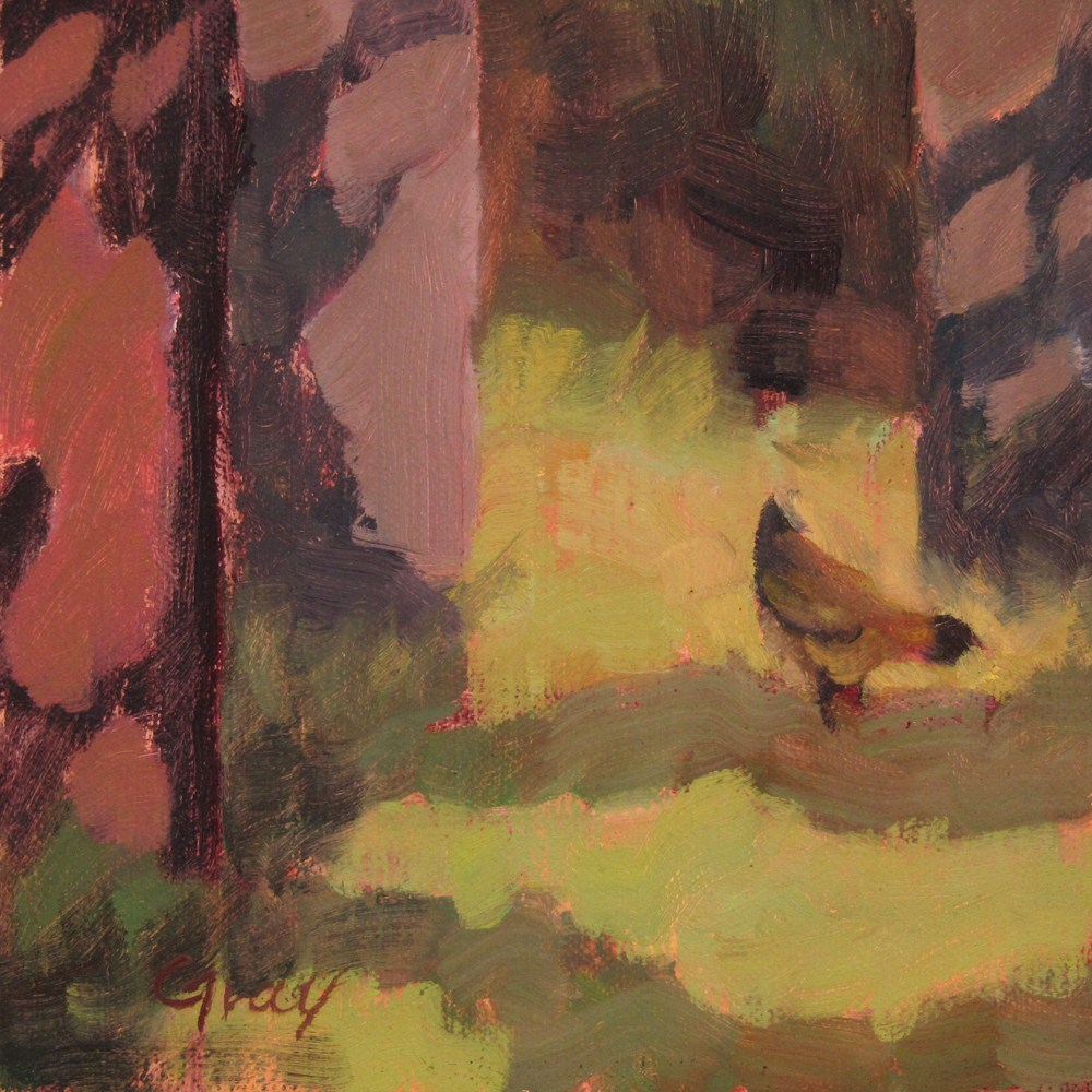 """""""Outing with Kara the Hen"""" original fine art by Naomi Gray"""