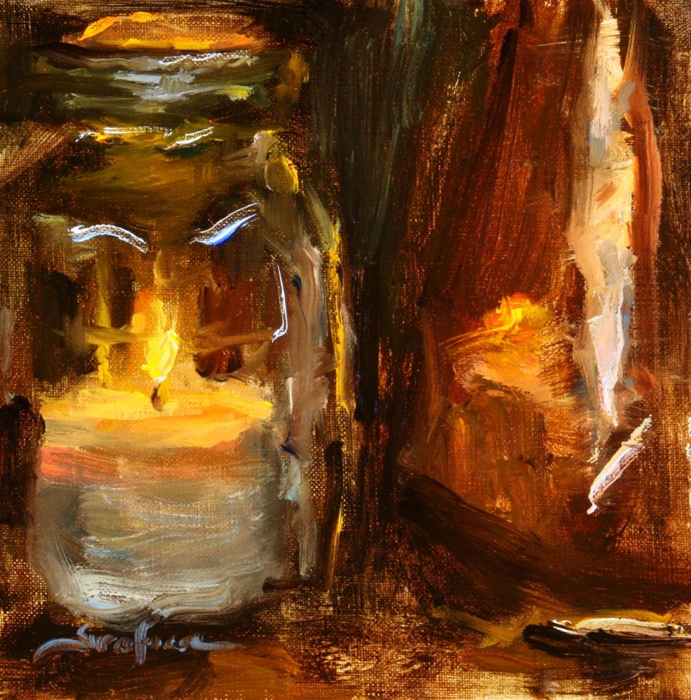 """Candle Lites 02"" original fine art by Scott Serafica"