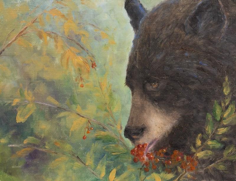 """Berry Eatin' Bear"" original fine art by Bonnie Bowne"