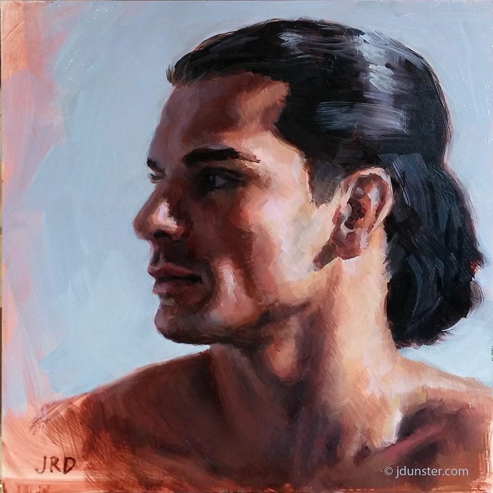 """""""Shadowed Profile"""" original fine art by J. Dunster"""