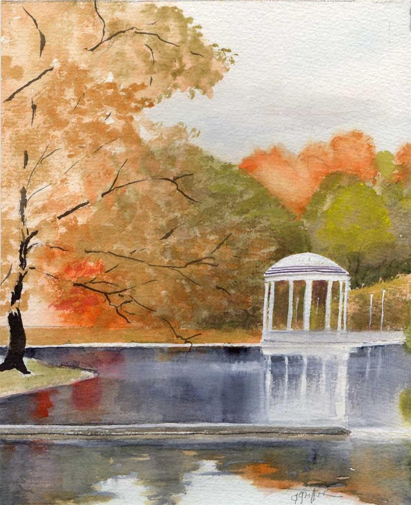 """""""Fall in park #2"""" original fine art by Bunny Griffeth"""