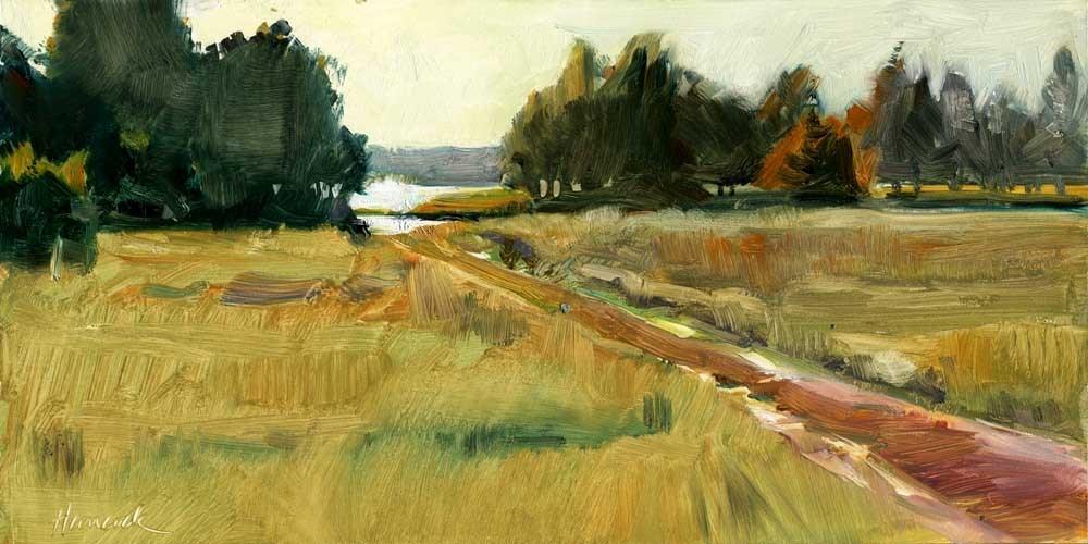 """Near Willapa Bay"" original fine art by Gretchen Hancock"
