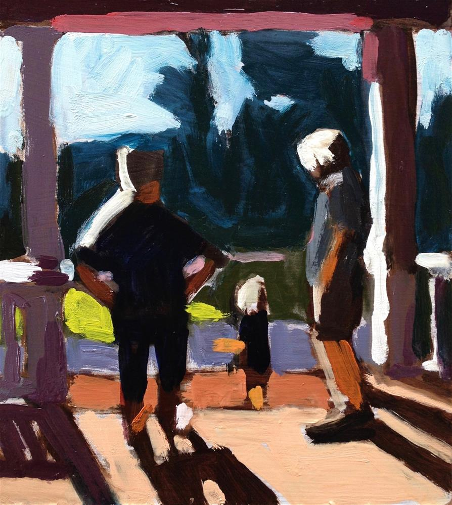 """Three Generation Morning"" original fine art by Pamela Hoffmeister"