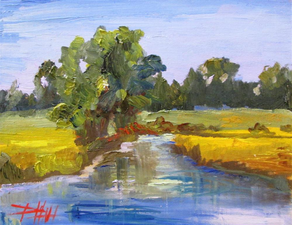 """Landscape with Stream"" original fine art by Delilah Smith"