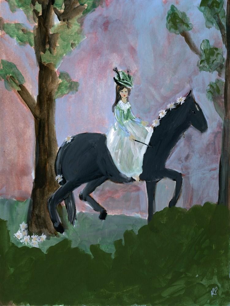 """Horsing Around"" original fine art by Kali Parsons"