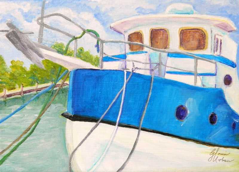 """Steel Hull Fisher"" original fine art by Gloria Urban"
