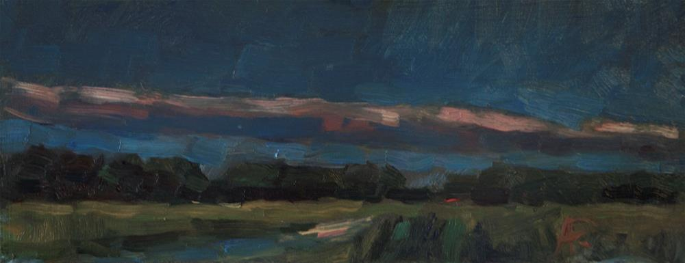 """Sky with Pink Streak"" original fine art by Andre Pallat"