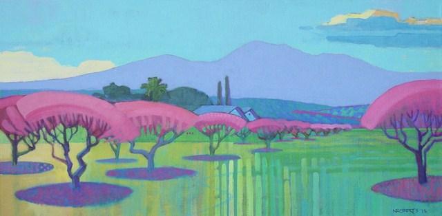 """Brentwood Spring"" original fine art by Nancy Roberts"