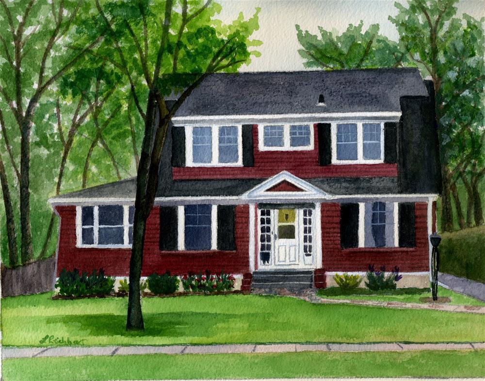 """Red House"" original fine art by Lynne Reichhart"