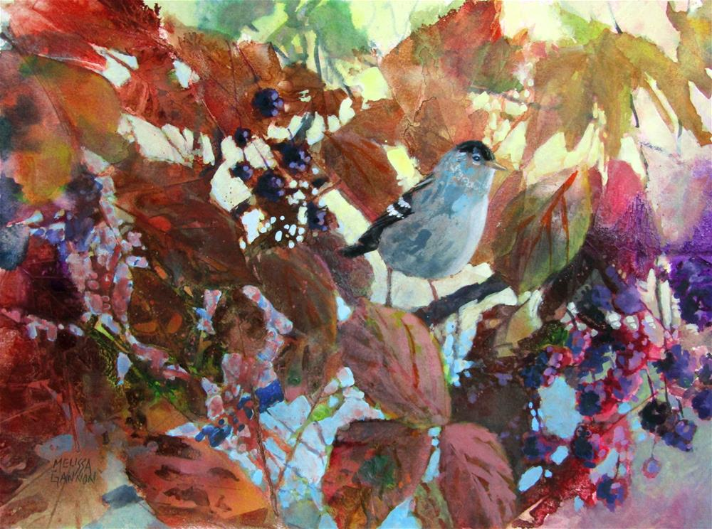 """Among the Leaves"" original fine art by Melissa Gannon"